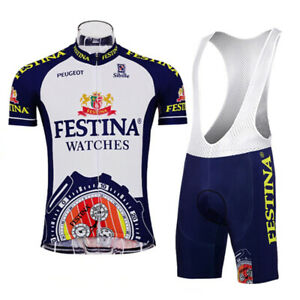 Festina Peugeot Cycling Jersey and  Bib Short Set