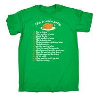 Funny T Shirt - How To Cook A Turkey - Birthday Joke tee Gift Novelty T-SHIRT