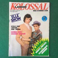 KOLOSSAL n.91/1982 VASCO ROSSI VILLAGE PEOPLE Fotoromanzo (ITA) Rivista Magazine