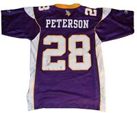 Reebok Adrian Peterson Minnesota Vikings Men's Jersey Small S - NFL Purple NFC