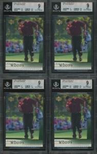 2001 Upper Deck #1 Tiger Woods RC Rookie Mint BGS 9 Lot Of 5