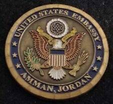 RARE United States Embassy Amman Jordan Department of State DoS Challenge Coin