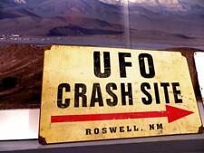 Photo.  Sign - UFO CRASH SITE