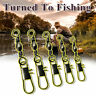 100PCS Fishing Barrel Swivel &Safety Snap Accessories Tackle Connector Combo CY