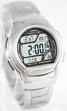 Casio Mens Black Atomic WAVECEPTOR Steel Band World Time Watch WV58DA-1A New
