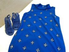 River Island Dress  Ladies Size 14 Electric Blue and shoes size 6 River island