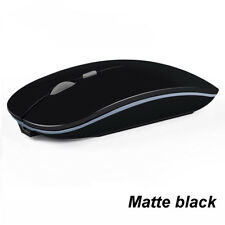 2.4ghz Rechargeable Wireless Mouse Silent Button Ultra Thin Optical Gaming Mice Matte Black