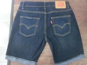NEW Levi's Boys' 511 Slim Fit Soft Dark Denim Shorts Size 14REG W27 NWOT MSRP$42