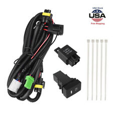 H11 Fog Light Wiring Harness Sockets Wire LED indicators Switch Kit For Toyota