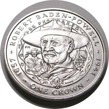 elf Falkland Islands 1 Crown 2007 Baden Powell 150th Boy Scouts Founder