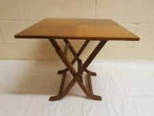 VINTAGE MEREDEW TEAK FOLDING TABLE SIDE TABLE PICNIC SOFA TABLE PORTABLE