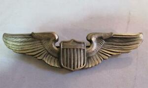 Vintage 3 Inch Army-Air Force Pilot Wings signed Meyer New York