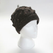 Hand Knitted Strawberry Style Winter Woollen Beanie Hat, One Size, UNISEX STH13