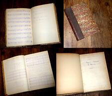 manuel d'harmonie T.1 recueil 40 fascicules ronéotypés et manuscrits E. Hourdin