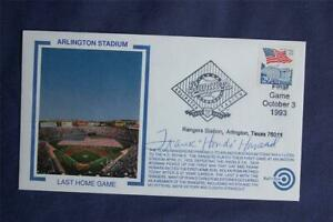 Arlington Stadium Last Game Event Bulls Eye Cachet Signed by Frank Howard WH028