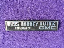 Dealer Dealership Name Plate Advertising Russ Harvey Buick GMC Stillwater, OK