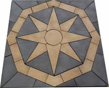 Patio Kit 2.4m x 2.4m compass  Buff/slate Grey incl del (some exceptions )
