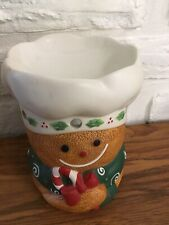 "Vintage Yankee Candle Christmas Gingerbread ""Baker's Dozen� Tart Burner"