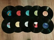 "JOBLOT OF 10 X 12""  VINYL LP RECORDS ~ UPCYCLING / ARTS / CRAFTS / DECORATION"