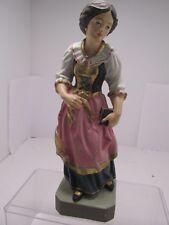 Wood Carving Figurine/Statute Bavarian Woman- Germany