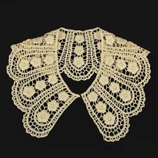 Vintage Style Guipure Lace collar, Cream Lace Sewn On Dressmaking, 1 pair. LC59