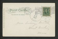US Postal History #300 Post Card 1907 Charleston SC to West Berlin MA DPO Doane
