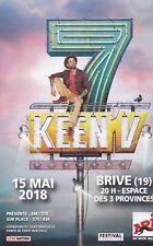 KEEN' V - CONCERT BRIVE-LA-GAILLARDE - 2018 FLYER / TRACT PUBLICITAIRE