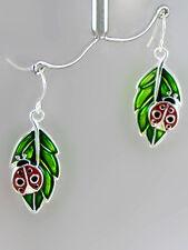 """Leaf Earrings with Ladybug 1"""""""