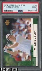 2002 Upper Deck Golf #41 Phil Mickelson PSA 9 MINT