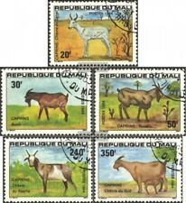 Mali 983-987 (complete.issue.) fine used / cancelled 1984 Goats