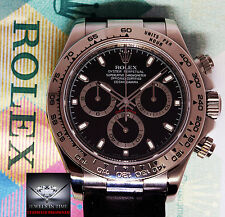 Rolex Daytona 18k White Gold Chronograph Watch Box/Papers Z 116519