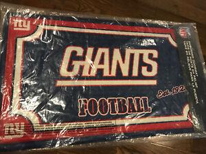 """New York Giants 18"""" X 30"""" Heavy Duty Front Door Mat Rug Porch Deck NFL NY"""