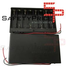 Portapilas 8xAA 12V Battery holder R6 LR06 con tapa e interruptor P022