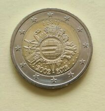 ESTONIA  2012 2 EUR COIN 10 Years of Euro Cash UNC from Mint Roll. KM#70