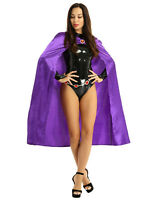 Women's Cosplay Halloween Costume Outfit Fancy Dress Bodysuit Hooded Cloak Belt