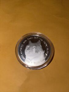 Dogecoin Commemorative Coin Limited Silver Plated DogeCoin In Case.