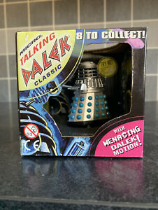 """Doctor Who Product Enterprise 2.5"""" Classic Micro Talking Dalek Blue/Silver - New"""