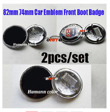 Car body kit Auto emblem Caps With epoxy resin label 82mm + 82mm FOR BLUE WHITE