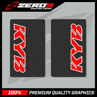 KYB UPPER FORK DECALS MOTOCROSS GRAPHICS MX GRAPHICS ENDURO CARBON RED