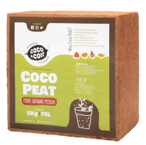 COIR BRICKS   5KG (70L)   COCO PEAT   COCO BLOCK   COCONUT FIBRE   GROWING MEDIA