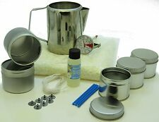 Soy wax candle making kit: 5+1 tins, fragrance, 500g soy wax, jug & thermometer