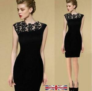 Nice Embroidery Lace Dress Women Sleeveless Party Cocktail Dress