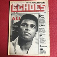 Black Echoes 20 Aug '77 Muhammad Ali, Linda Hopkins, Floaters, Grapevine Records