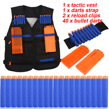 Tactic Vest Jacket +2x Reload Clips+40xBullet Darts+Strap For Gun
