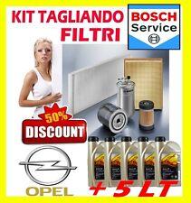 KIT TAGLIANDO 4 FILTRI OPEL ZAFIRA B 1.9CDTI 88KW + 5LT OPEL MOTOR OIL 5W30