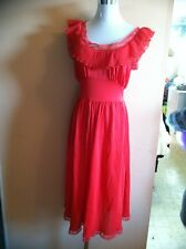Vintage 1950'S Society Lingerie Red Size Small Great Condition