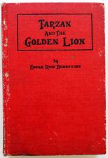 TARZAN AND THE GOLDEN LION EDGAR RICE BURROUGHS COPYRIGHT 1923