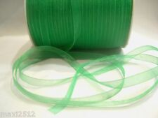 10m x 7mm Organza Ribbon : 31 Green