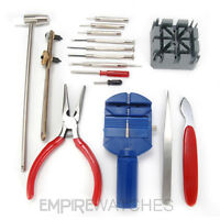 *NEW* 16 PCS WATCH REPAIR TOOL SET, BACK REMOVER WITH LINK PIN ADJUSTER SET