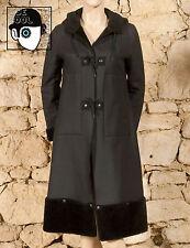 """""""COP COPINE"""" vintage fausse fourrure manteau à capuche-UK 8 ou 10 - (Q)"""